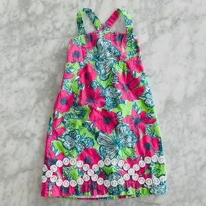 Lilly Pulitzer Girls Dress Pink Green 7 Summer
